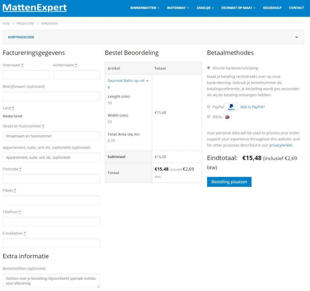 Contactgegevens Deurmat op maat bij MattenExpert