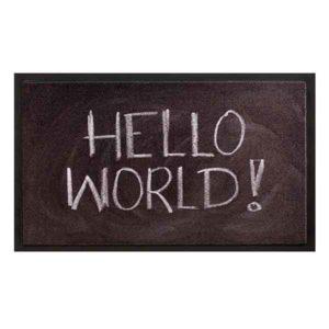 Schoonloopmat Image Hello World
